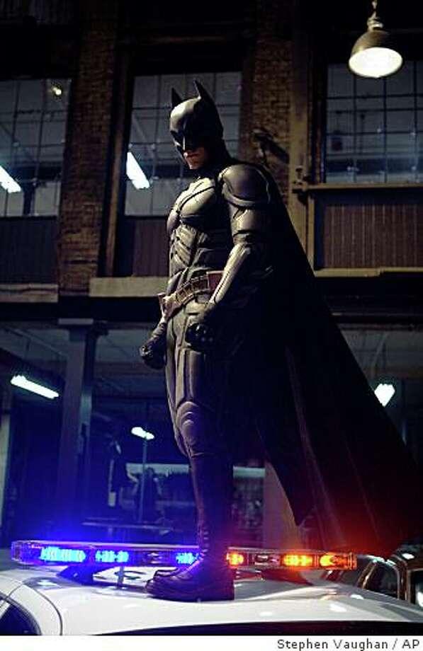 "In this image released by Warner Bros., Christian Bale stars as Batman in ""The Dark Knight.""  (AP Photo/Warner Bros. Pictures, Stephen Vaughan) ** NO SALES ** Photo: Stephen Vaughan, AP"