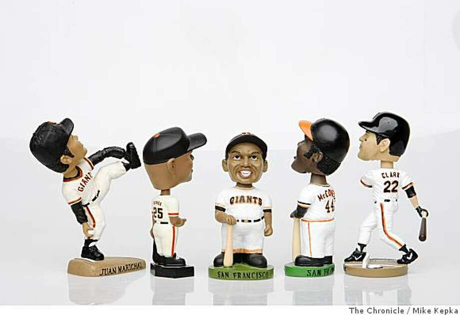 A series of vintage San Francisco Giants bobble heads where photographed on Thursday July 17, 2008 in San Francisco, Calif. Photo by Mike Kepka / The Chronicle Photo: Mike Kepka, The Chronicle