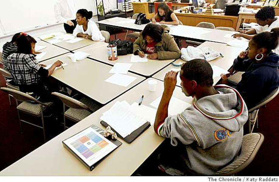 A college prep math class at Omega Leadership Academy at the Omega Boys Club in San Francisco, Calif.  on Thursday,  July 17, 2008.Photo by Katy Raddatz / The Chronicle Photo: Katy Raddatz, The Chronicle