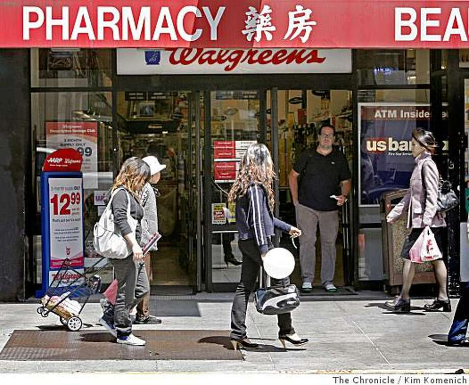 "Chinatown is among the neighborhoods in San Francisco, Calif.,  that caused www. walkscore.com to rate the city highest of all U.S. cities in ""walkability."" Photographed on Stockton Street between Green and Vallejo Streets on Wednesday, July 16, 2008.Photo by Kim Komenich / The Chronicle Photo: Kim Komenich, The Chronicle"