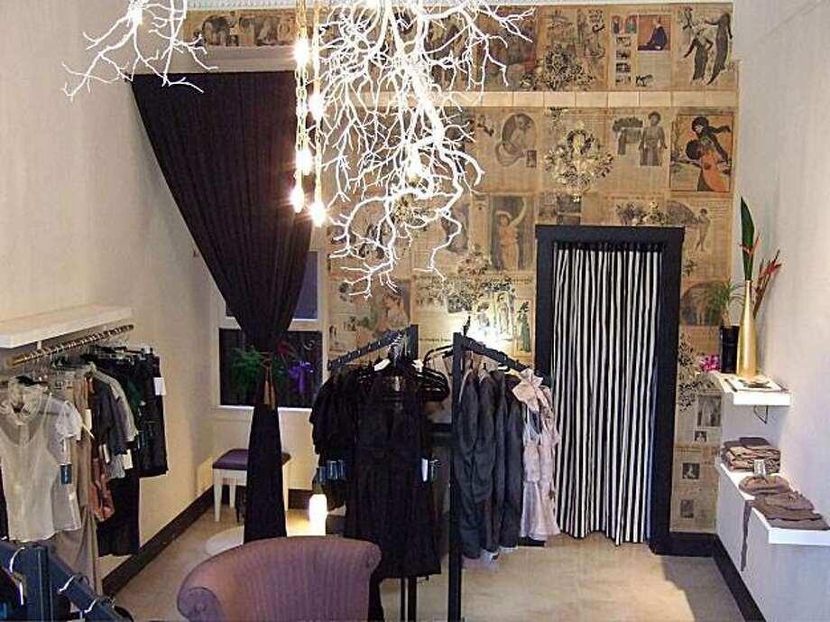 Womenswear designer Christopher Collins has opened a small boutique on Sutter Street. Photo: Laura Compton