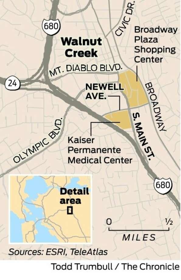 Newell Avenue & South Main Street, Walnut Creek - SFGate on kaiser california map, kaiser redwood city map, kaiser san leandro map,