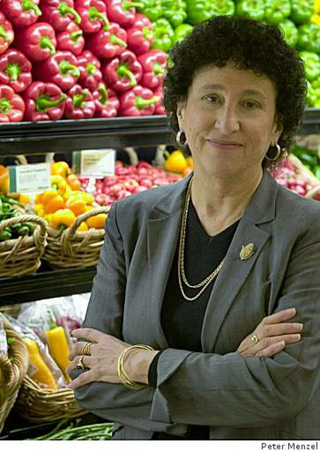 "Marion Nestle, professor in the Department of Nutrition, Food Studies, and Public Health at New York University, author of ""What to Eat'' and ""Food Politics,"" and Chronicle Food columnist. Photo: Peter Menzel"