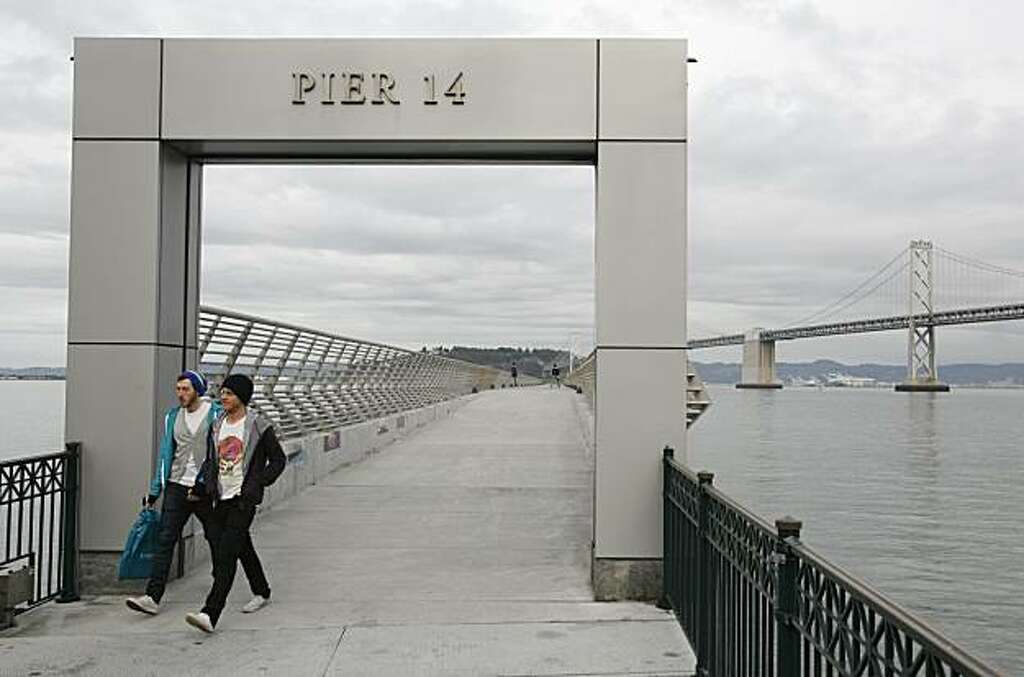 The Entrance To Pier 14 Sits Near The Bay Bridge In San Francisco. Photo: