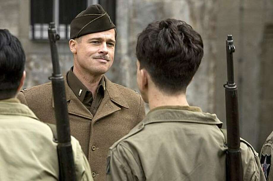 "In this film publicity image released by The Weinstein Co., Brad Pitt is shown in a scene from, ""Inglourious Basterds."" Photo: Francois Duhamel, AP"