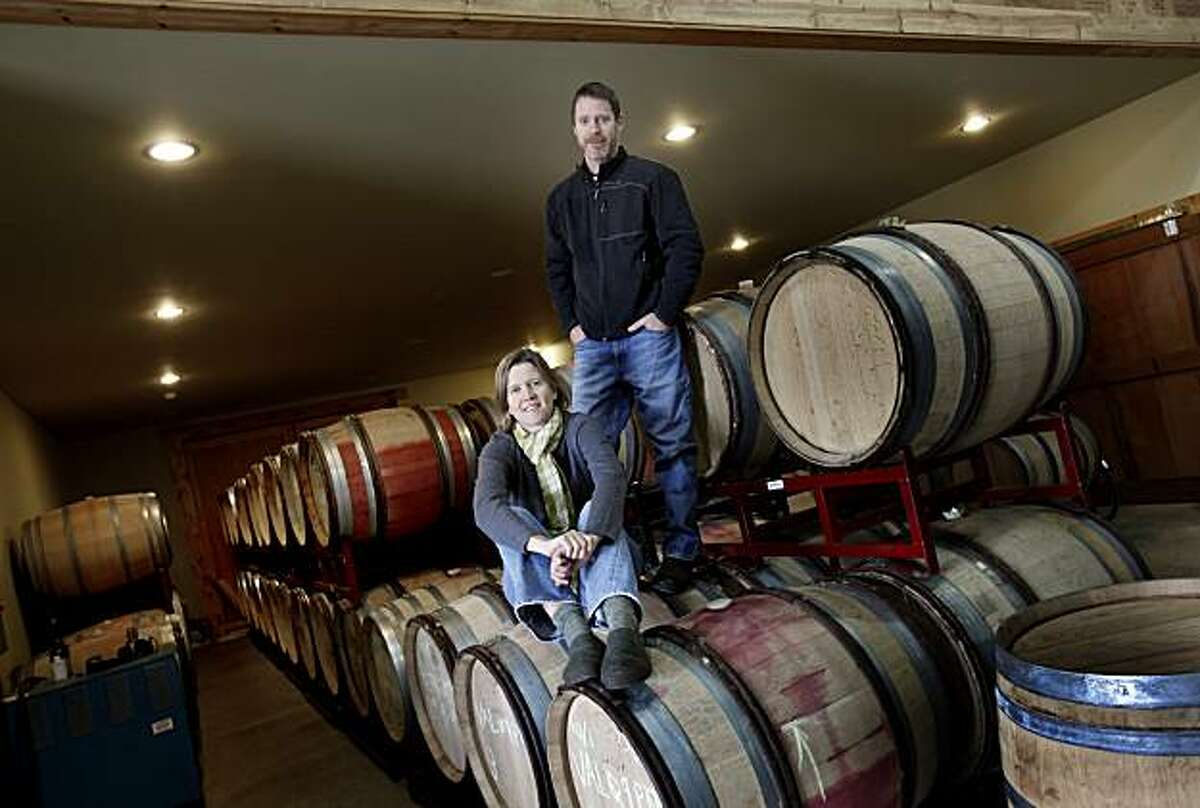 Jason Drew of Drew Wines and his wife Molly run their winery in the small town of Elk, just east of the Mendocino coast.