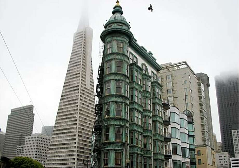 Built by political boss Abe Reuf, spiffed up by film mogul Francis Ford Coppola, the Sentinel Building is a revered San Francisco landmark. Photo: John King, The Chronicle