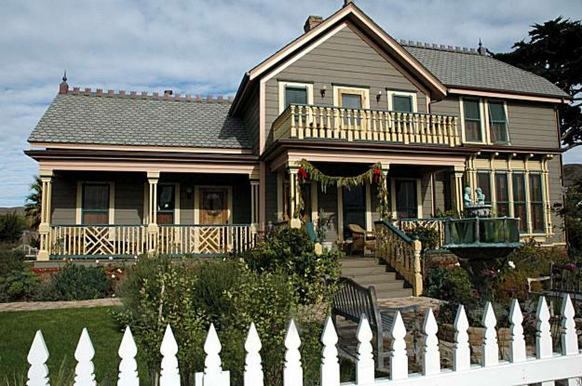 Cass House Inn and Restaurant in Cayucos, Calif. It is one of several restaurants invovled in San Luis Obispo's restaurant month. Cayucos, San Luis Obispo County -- Cass House, a five-room luxury inn and restaurant, opened in summer 2007 in the 140-year-old home of the sea captain who developed the town of Cayucos, on the Central Coast between San Simeon and Morro Bay.