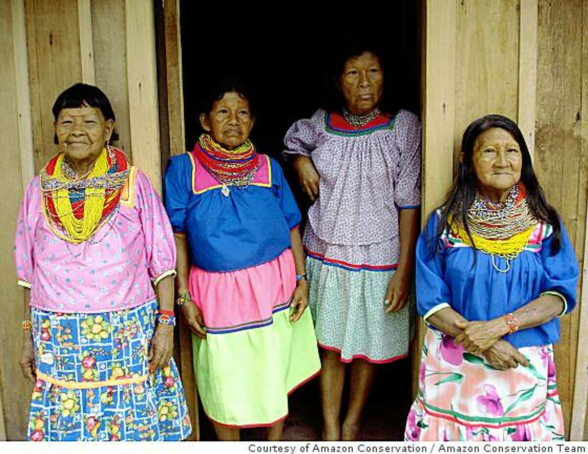 Cofan women at the Oritos rainforest reserve in the Colombian Amazon.