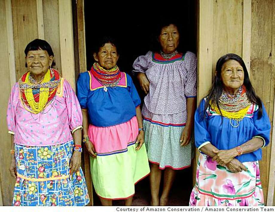 Cofan women at the Oritos rainforest reserve in the Colombian Amazon. Photo: Amazon Conservation Team, Courtesy Of Amazon Conservation