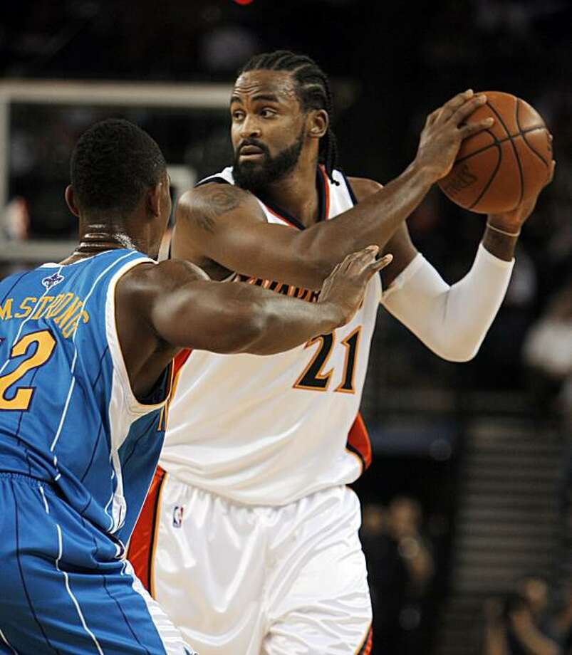 The Warriors's Ronny Turiaf. The Golden State Warriors played the New Orleans Hornets at Oracle Arena in Oakland, Calif., on Thursday, October 22, 2009. The Warriors defeated the Hornets 126-92. Photo: Carlos Avila Gonzalez, The Chronicle
