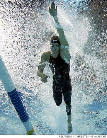 Dara Torres swims to win in her semifinals heat of the women's 50m setting a new U.S. record time of 24.38 seconds at the U.S. Olympic Swimming Trials in Omaha, Nebraska, July 5, 2008.   REUTERS/Christinne Muschi  (UNITED STATES)  (BEIJING OLYMPICS 2008 PREVIEW) Photo: CHRISTINNE MUSCHI, REUTERS