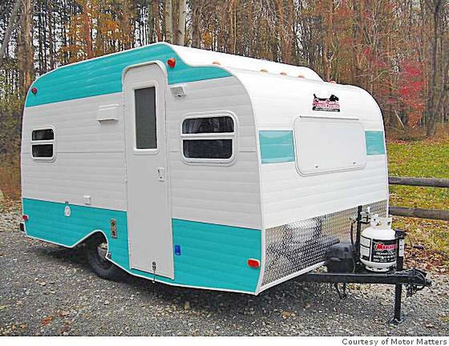 RV enthusiasts with small tow rigs might find the retro-styled Serro Scotty Sportsman and Hilander to be good match ups for easy-towing RV camping fun. The design cues and color hues are lifted directly from the original Scotty trailers of the 1950s and 1960s. Photo: Courtesy Of Motor Matters