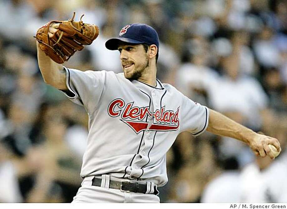 Cleveland Indians' Cliff Lee pitches against the Chicago White Sox during the second inning of a baseball game Tuesday, July 1, 2008, in Chicago. (AP Photo/M. Spencer Green) Photo: M. Spencer Green, AP