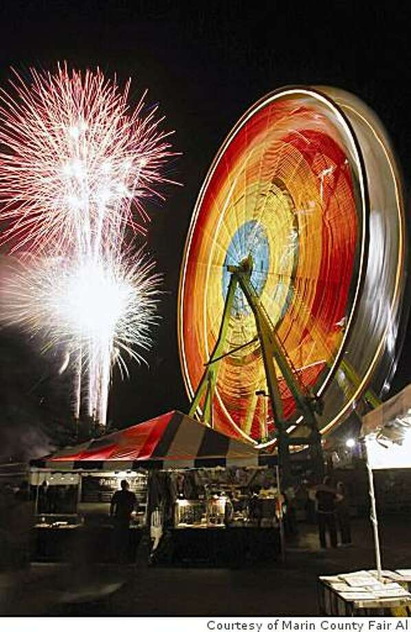 Enjoy a nightly fireworks display at the Marin County Fair, taking place July 2-6 at the Marin County Fairgrounds in San Rafael. Photo: Courtesy Of Marin County Fair Al