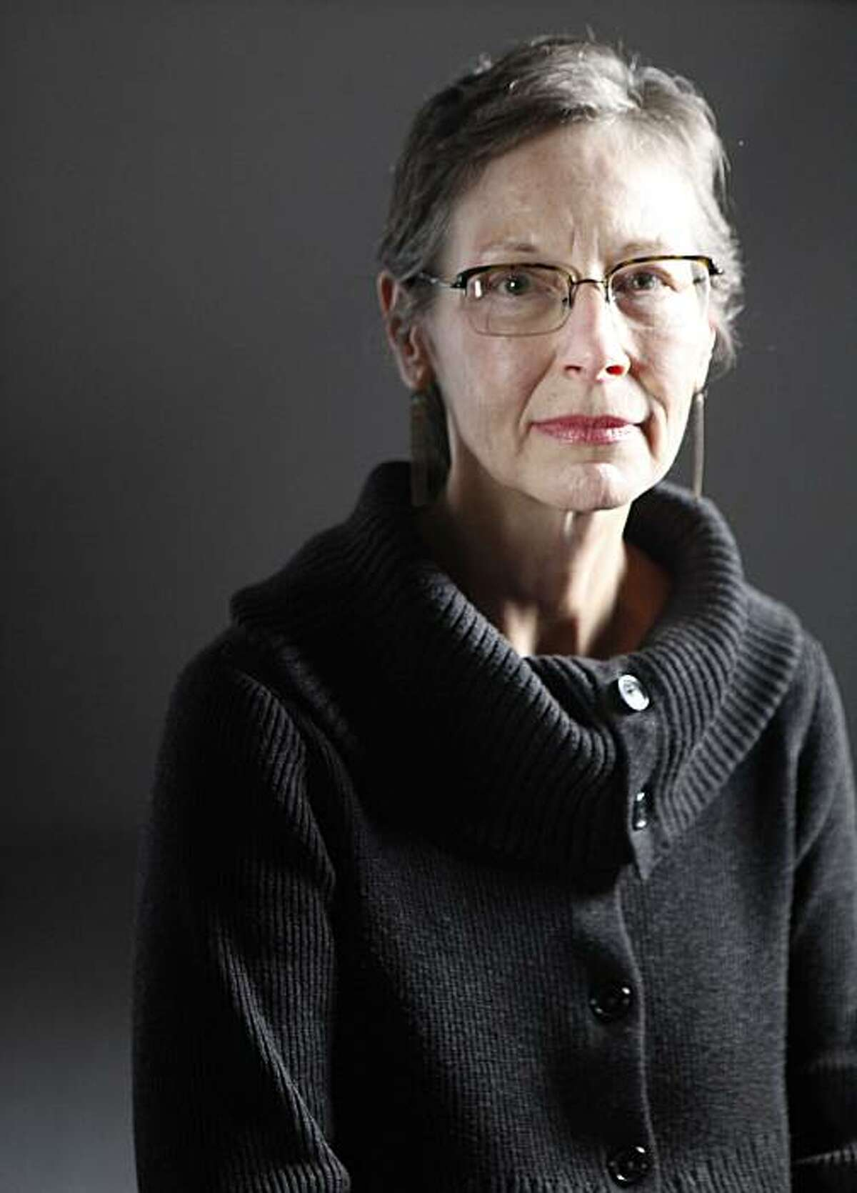 Carol Sklenicka, author of a biography of American fiction writer Raymond Carver, sits for a portrait on Monday Dec. 7, 2009 in San Francisco, Calif.