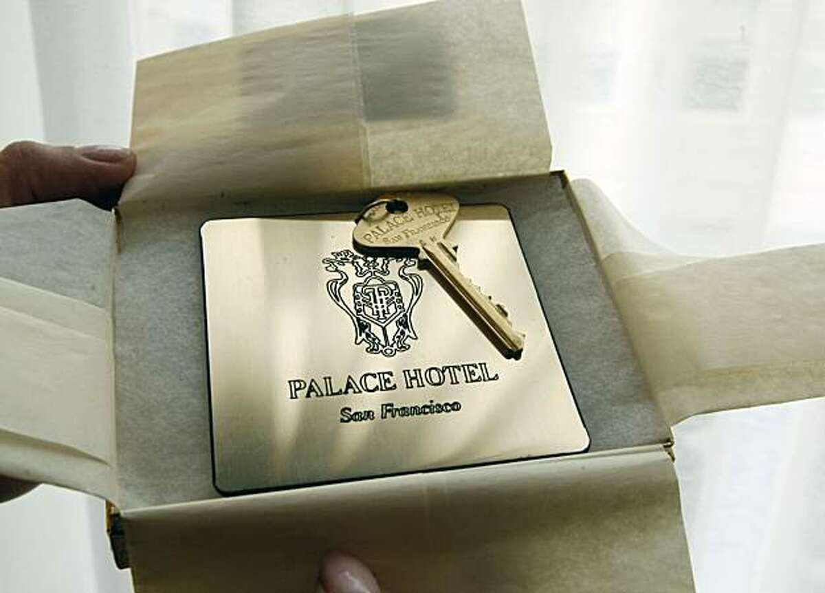 Whoever retrieves the Palace Hotel gold key to the Presidential suite wins a three-night stay at the hotel including fine dinning at the hotel restaurants. The key was released via a balloon marking the 100th anniversary of the hotel Tuesday Dec 15, 2009.