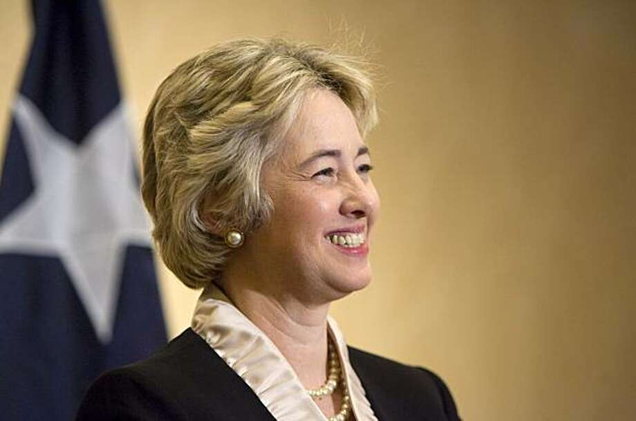 Houston Mayor-elect Annise Parker listens to questions at a press conference at the Hilton Americas Hotel in downtown Houston Sunday, Dec. 13, 2009 in Houston. (AP Photo/Steve Campbell) Photo: Steve Campbell, AP