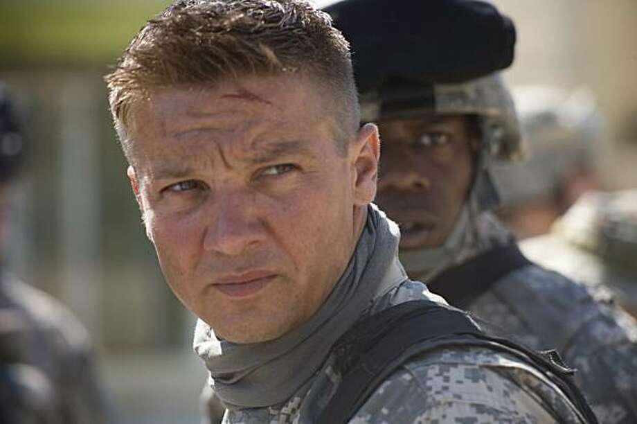 "Jeremy Renner is shown in a scene from, ""The Hurt Locker."" The film was nominated for a Golden Globe award for best motion picture drama. Photo: Jonathan Olley, AP"