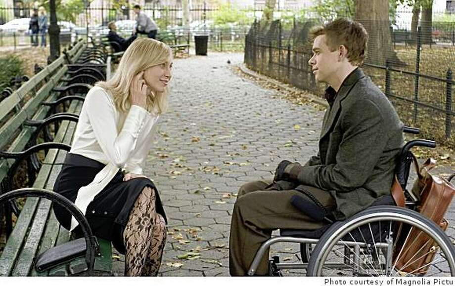 "Fiona (Vera Farmiga) plays a woman who introduces Public Radio reporter Isaac (Nick Stahl) to a netherworld of people afflicted with a perverse desire to be disabled in Carlos Brooks' ""Quid Pro Quo,"" opening Friday, June 27, at Landmark?s Embarcadero Center Cinema in San Francisco.   Photo courtesy of Magnolia Pictures Photo: Photo Courtesy Of Magnolia Pictu"