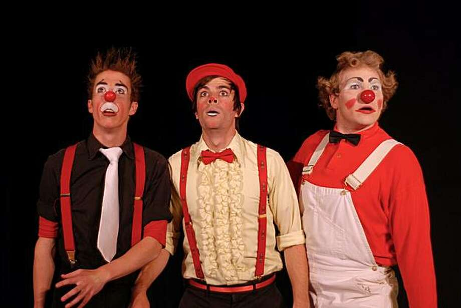 """Circus Center's Open House and Holiday Carnival is 10 a.m. to 4 p.m. Dec. 19. Free. 7:30 p.m. performance of """"Pratfalls and Rising Stars"""" by students. $10-$15. Pictured:  Pi Clowns (Andrew Quick, Bruce Glaseroff, Jon Deline).  Photo credit:  Seth Golub Photo: Seth Golub, Circus Center"""
