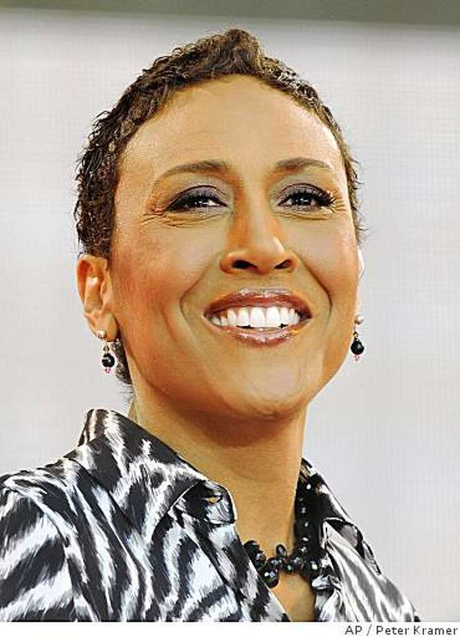 "TV personality Robin Roberts on ABC's ""Good Morning America"" show in Bryant Park on Friday, May 30, 2008, in New York. (AP Photo/Peter Kramer) Photo: Peter Kramer, AP"