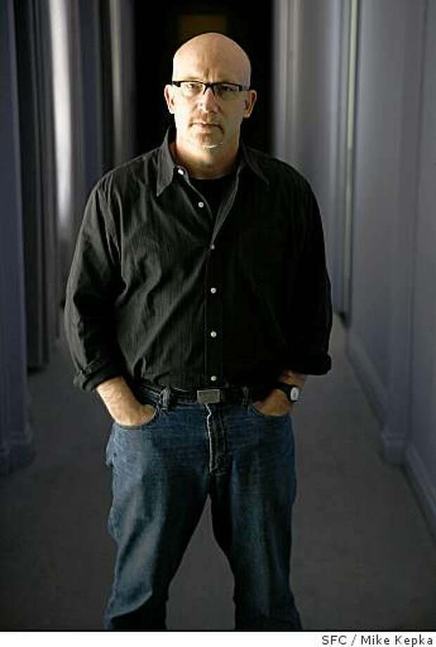 "Oscar-winning documentarian, Alex Gibney, who has a new documentary about Huner S. Thompson called ""Gonzo"", poses for a portrait at the Clift Hotel on Thursday, May, 8, 2008 in San Francisco, Calif. Photo by Mike Kepka / San Francisco Chronicle Photo: Mike Kepka, SFC"