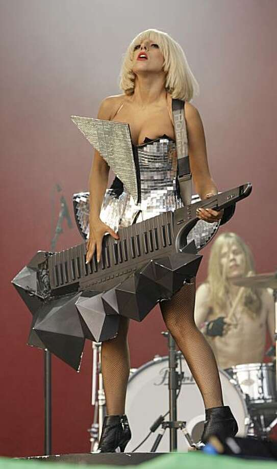 U.S singer Lady Gaga performs at the Glastonbury festival in Somerset, Friday June 26 2009. (AP Photo/Joel Ryan) Photo: Joel Ryan, AP Photo