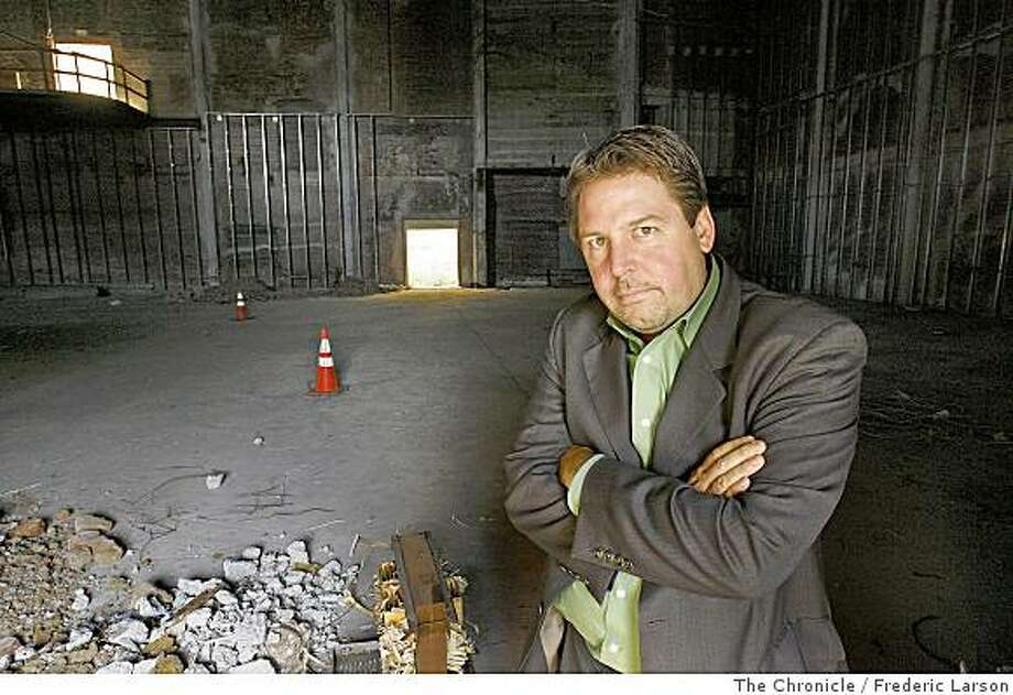 Matin Kirkwood poses for a portrait at the old Pagoda theater in the heart of North Beach on Columbus Street in San Francisco, Calif., which is a huge bone of contention on June 30, 2008 where the community has seen it be vacant so long then there are those who think of it as an historical site.   6/30/08Photo by Frederic Larson / The Chronicle Photo: Frederic Larson, The Chronicle