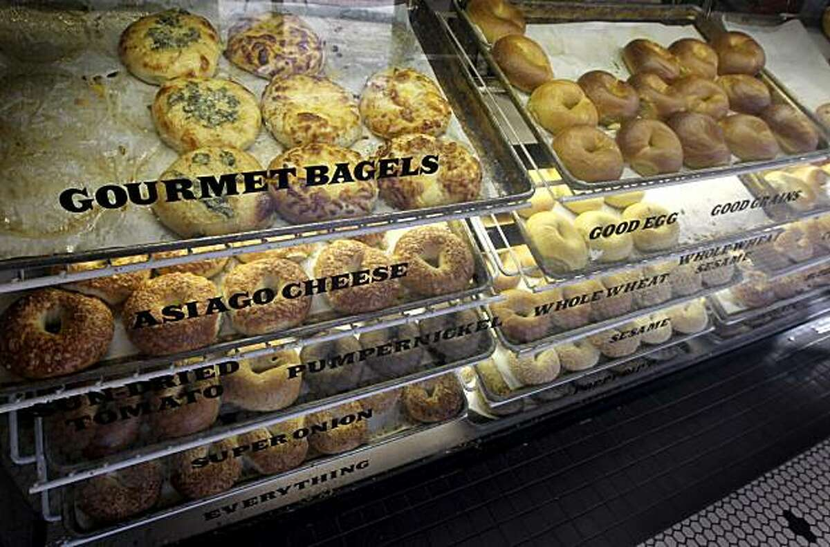 The original Noah's Bagel location on College Avenue in Berkeley, Calif., features many varieties of bagels on Thursday, Dec. 3, 2009.