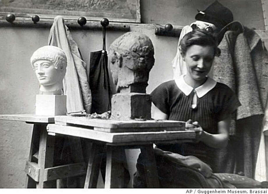 This 1937 photo released by the Guggenheim Museum shows Louise Bourgeois, photographed by Brassai, at the Acadmie de la Grande-Chaumire in Paris.  A retrospective of Bourgeois' work is currently being shown at the Solomon R. Guggenheim Museum in New York. (AP Photo/Guggenheim Museum, Brassai, Louise Bourgeois Archive) ** NO SALES ** Photo: Guggenheim Museum, Brassai, AP