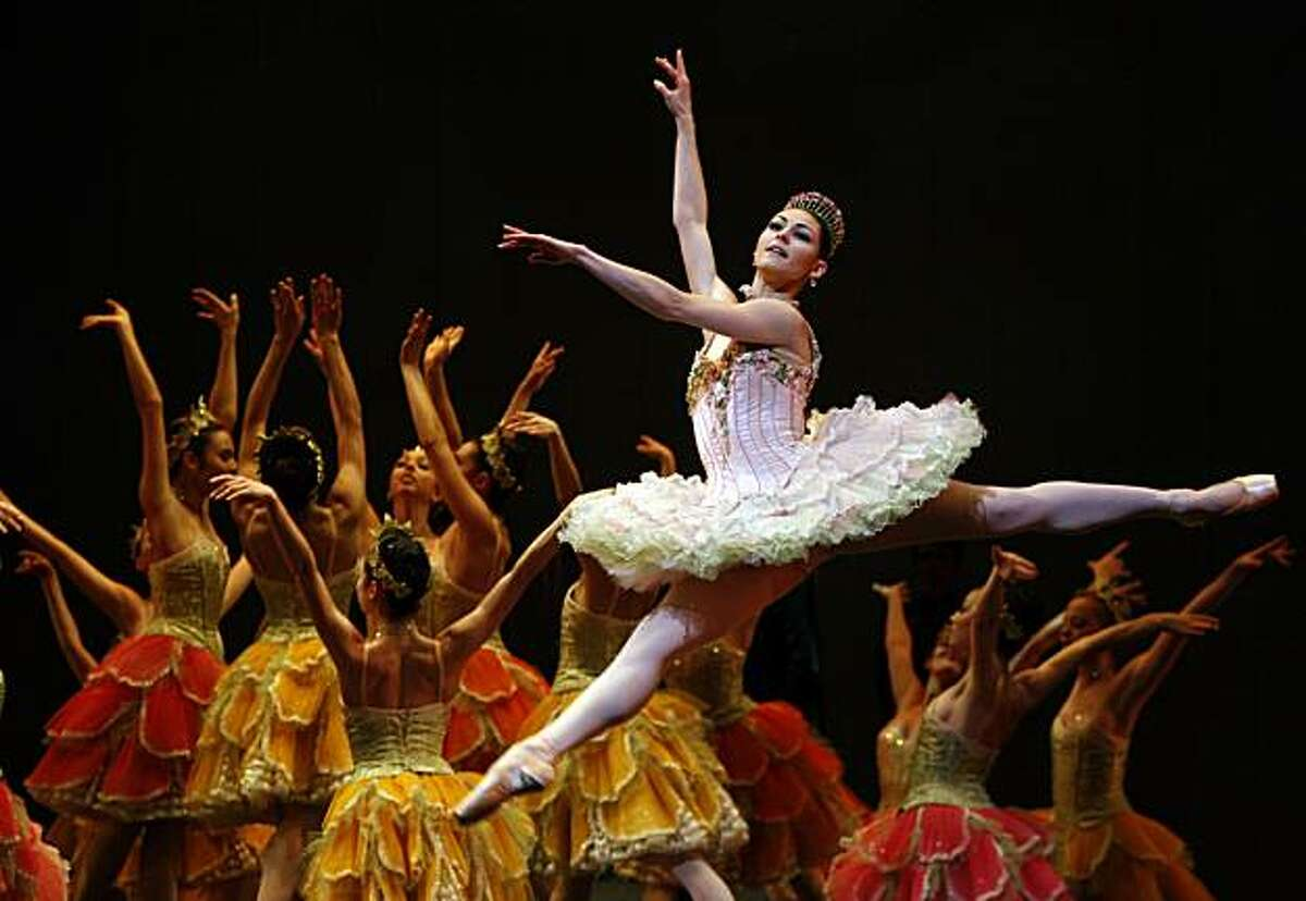 Sofiane Sylve during rehearsals being the sugar plum fairy for the San Francisco Ballet Nutcracker at the opera house in San Francisco, Ca., on Tuesday, December 8, 2009.
