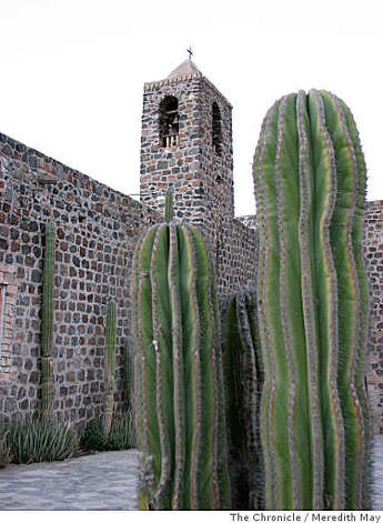 Cacti stand guard at the mission in Mulege. Photo: Meredith May, The Chronicle