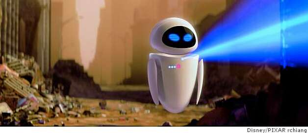 Disney/PIXAR's animated feature, Wall-E is the story of one robot's comic adventures as he chases his dream across the galaxy.W-130: �����������EVE Photo: Disney/PIXAR Rchiang