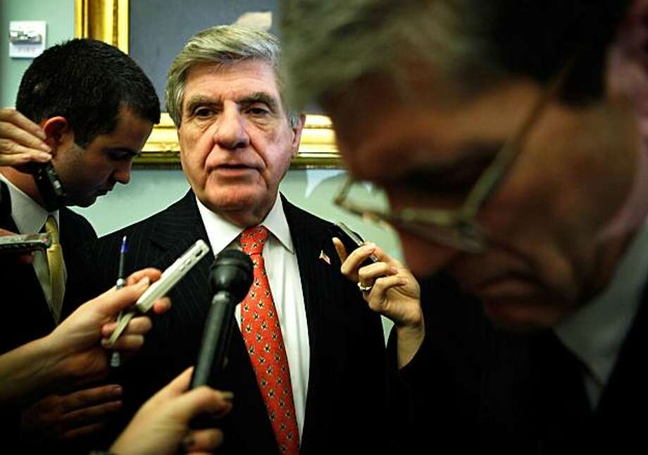 WASHINGTON - DECEMBER 08:  U.S. Sen. Ben Nelson (D-NE) speaks to the media prior to the weekly policy committee luncheon December 8, 2009 on Capitol Hill in Washington, DC. Key members for the Senate version of the Health Care Reform Bill are still going through a back-and-forth negotiation on how the bill will take shape.  (Photo by Alex Wong/Getty Images) Photo: Alex Wong, Getty Images