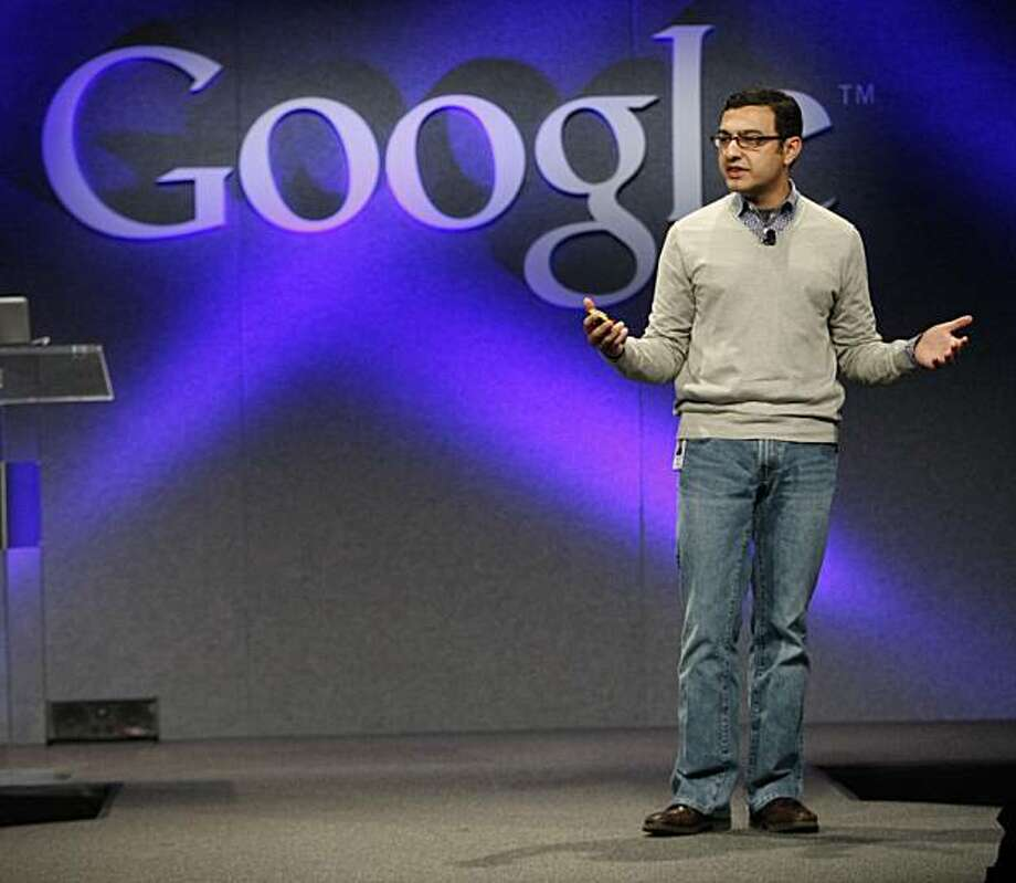Vic Gundotra, VP of Engineering for Google, talks about the search engine's new features in Mountain View, Calif., Monday, Dec. 7, 2009. (AP Photo/Marcio Jose Sanchez) Photo: Marcio Jose Sanchez, AP