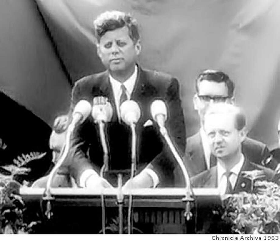 John F. Kennedy in Berlin in 1963. Photo: Chronicle Archive 1963
