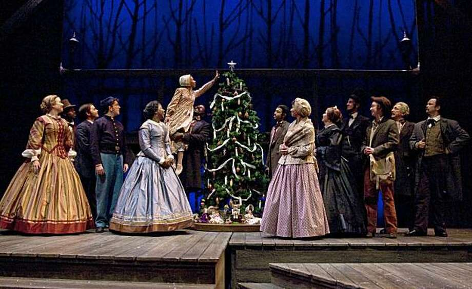 "The cast of TheatreWorks' West Coast premiere of ""A Civil War Christmas"" Photo: Tracy Martin"
