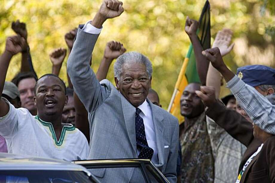 "In this film publicity image released by Warner Bros., Morgan Freeman portrays Nelson Mandela in a scene from, ""Invictus."" (AP Photo/Warner Bros., Keith Bernstein) Photo: Keith Bernstein, AP"