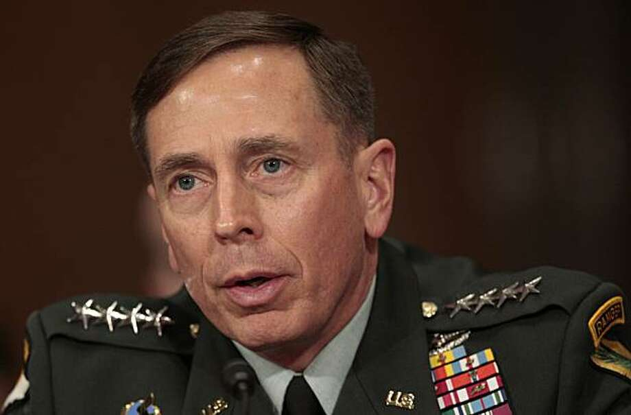 U.S. Central Command commanding Gen. David Petraeus testifies on Capitol Hill in Washington, Wednesday, Dec. 9, 2009, before the Senate Foreign Relations Committee hearing on Afghanistan. (AP Photo/Pablo Martinez Monsivais) Photo: Pablo Martinez Monsivais, AP