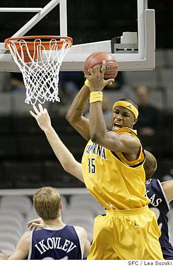 : newell_592_ls.JPGHardin DeVon reacts as he comes up with the ball after a Nevada attempt failed to make a basket in the second half.UC Berkeley Golden Bears vs. University of Nevada Wolf Pack in the Pete Newell Challenge at the  HP Arena in San Jose on Sunday,  December 3, 2006. Photo by Lea Suzuki/The San Francisco ChroniclePhoto taken on 12/3/06, in San Jose, CA.**(themselves) cq. newell_592_ls.JPG Hardin DeVon reacts as he comes up with the ball after a Nevada attempt failed to make a basket in the second half. UC Berkeley Golden Bears vs. University of Nevada Wolf Pack in the Pete Newell Challenge at the HP Arena in San Jose on Sunday, December 3, 2006. Photo by Lea Suzuki/The San Francisco Chronicle Photo taken on 12/3/06, in San Jose, CA. **(themselves) cq. Photo: Lea Suzuki, SFC
