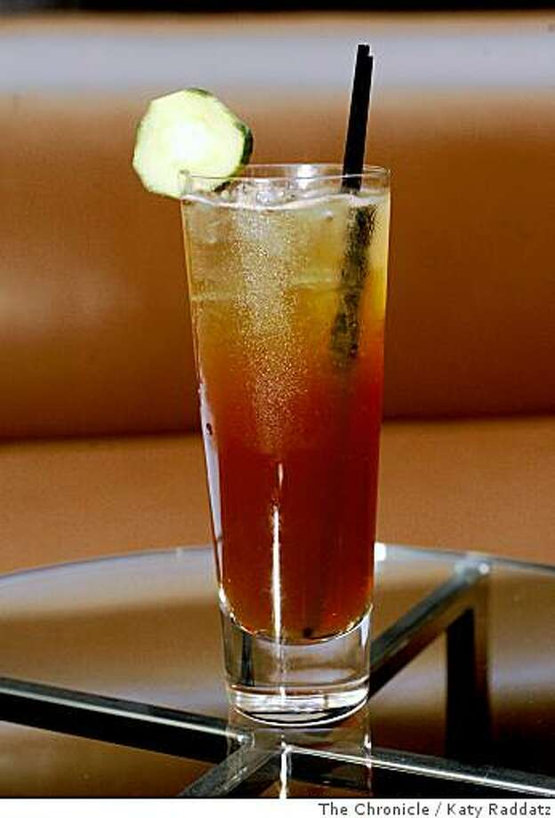 The Pimm's Cup, served at Spruce, a restaurant at 3640 Sacramento St.  in San Francisco, Calif.  on June 17, 2008.Photo by Katy Raddatz / The Chronicle Photo: Katy Raddatz, The Chronicle