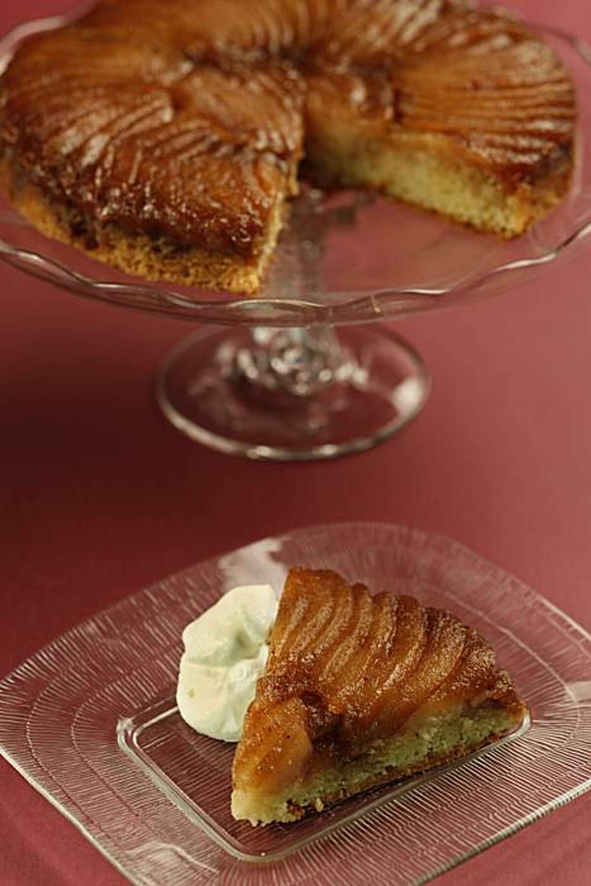 Cinnamon Poached Upside-Down Pear Cake in San Francisco, Calif., on November 24, 2009. Food styled by Amanda Gold.