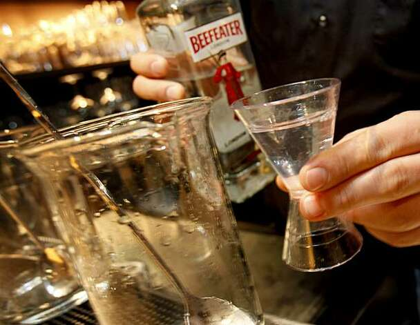 Beefeater Gin was used in many of the early experiments. An experimental martini mixing session as held Sunday November 22, 2009 at the Fifth Floor in the Hotel Palomar in San Francisco, CA. Photo: Brant Ward, The Chronicle