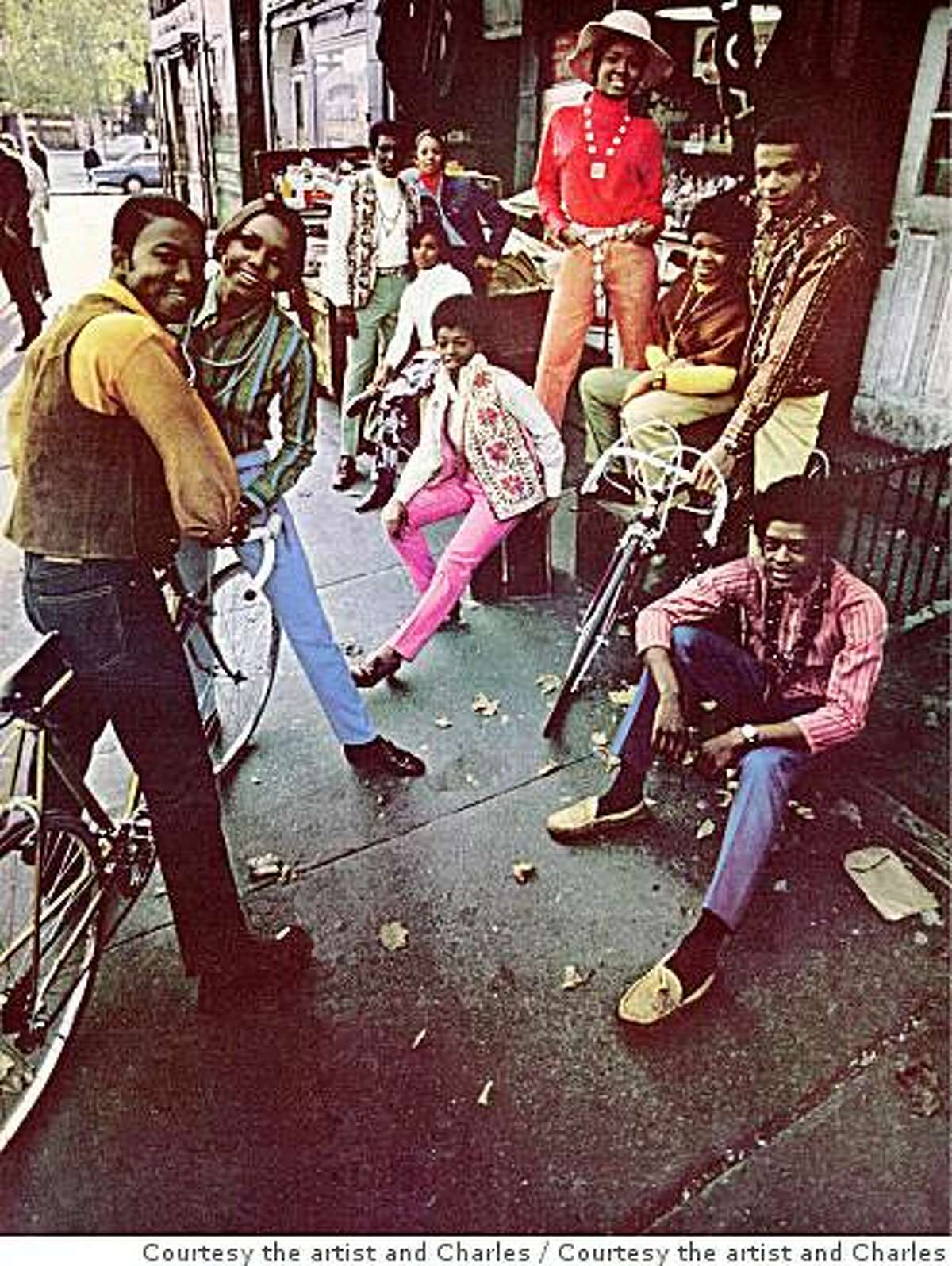 Hank Willis ThomasThe Oft Forgotten Flower Children of Harlem 1969/2006from the series Unbranded: Reflections in Black by Corporate AmericaLightJet print, 34 by 27�? in., (86.4 by 69.9 cm.)Courtesy the artist and Charles Guice Contemporary