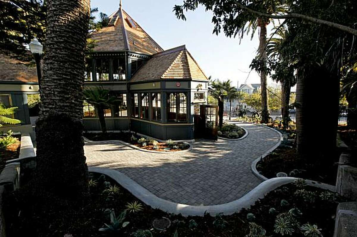 The grounds around the Sunnyside Conservatory are all in place for this Saturday's grand re-opening after a major restoration project of the 1898 landmark in San Francisco, Ca.