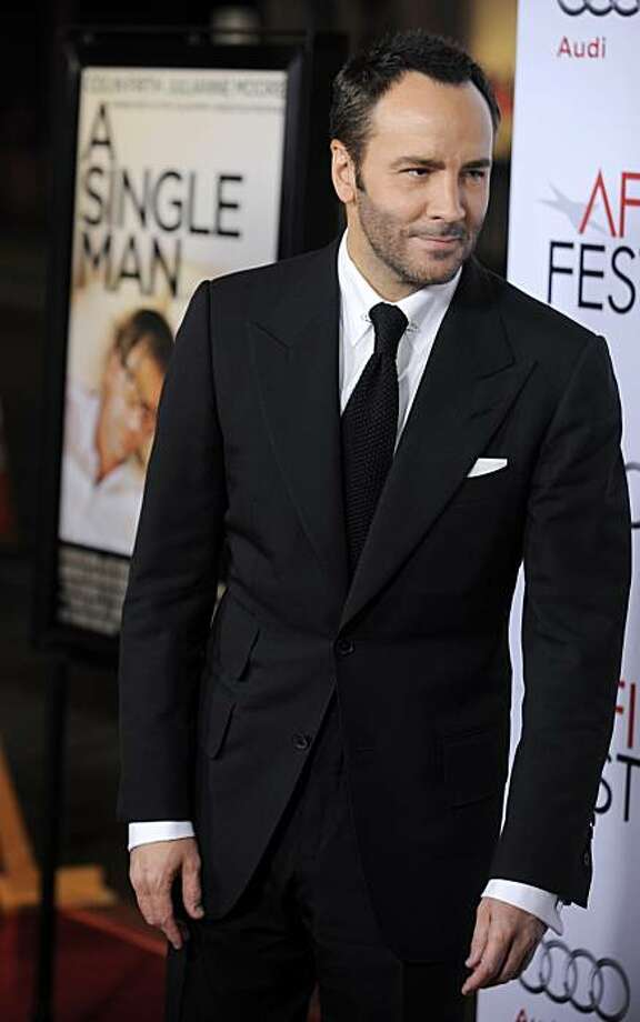 "Fashion designer Tom Ford, making his directorial debut with ""A Single Man,"" arrives at the premiere of the film at AFI Fest 2009 in Los Angeles, Thursday, Nov. 5, 2009. (AP Photo/Chris Pizzello) Photo: Chris Pizzello, AP"