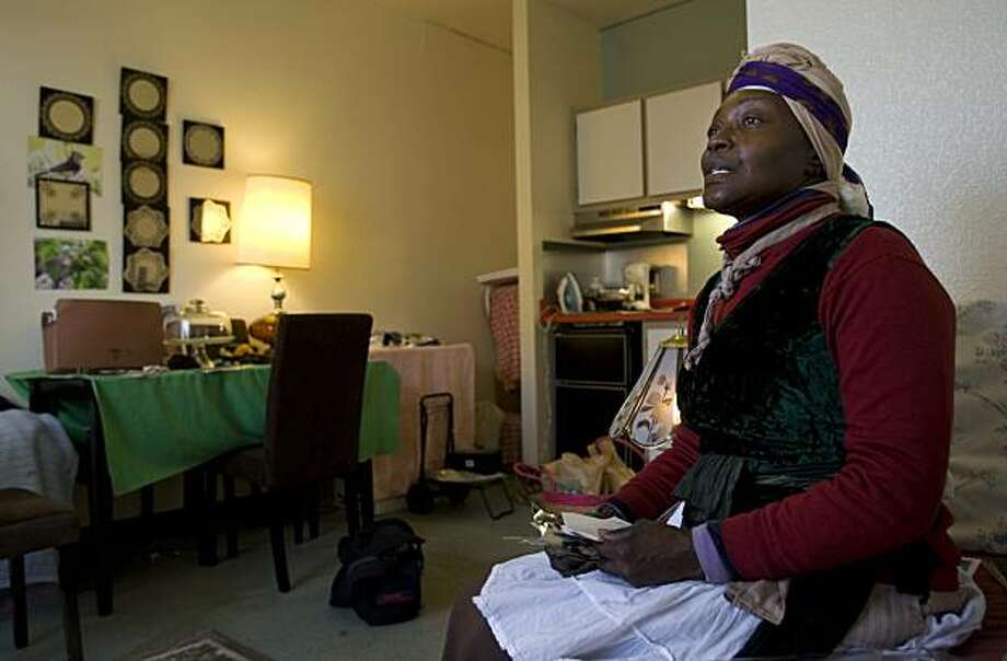 Marsha Bacon of Oakland, Calif. became homeless after her landlord sold the building she lived in.  Season of Sharing gave her funds for a downpayment on an apartment at a senior housing center, where she now lives and remains active serving the homeless community. Photo: Adam Lau, The Chronicle