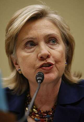Secretary of State Hillary Rodham Clinton testifies on Capitol Hill in Washington, Wednesday, Dec. 2, 2009, before the House Foreign Affairs Committee hearing on U.S. strategy in Afghanistan. (AP Photo/Pablo Martinez Monsivais) Photo: Pablo Martinez Monsivais, AP