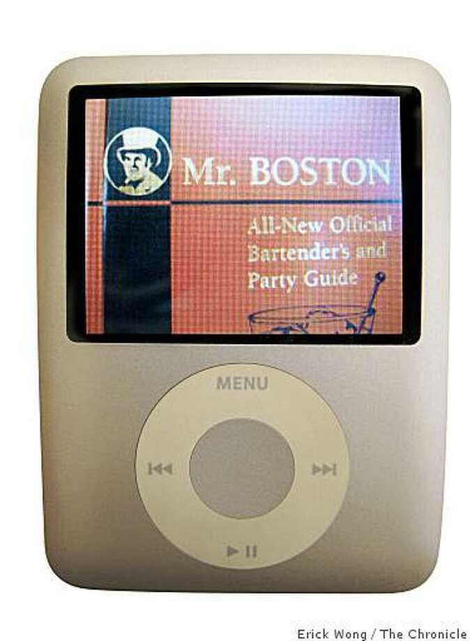 The Mr. Boston mixing guide is now available as an iPod download.Photo illustration: Erick Wong / The Chronicle Photo: Erick Wong / The Chronicle